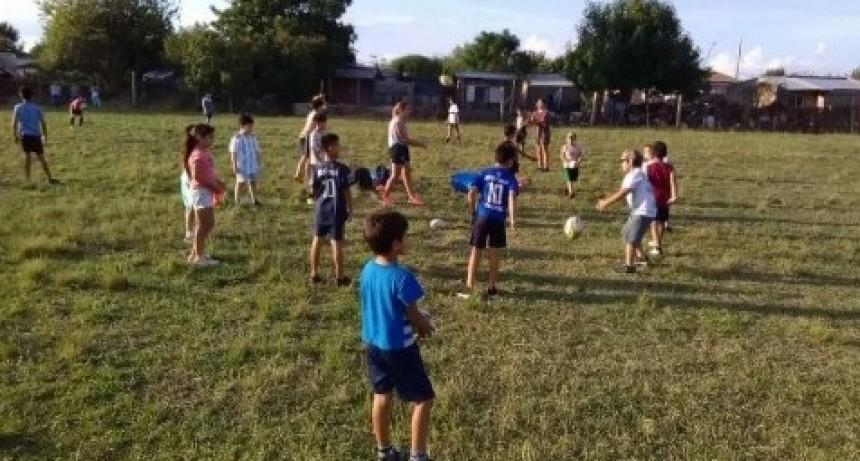 Actividad de la Escuela Municipal de Rugby