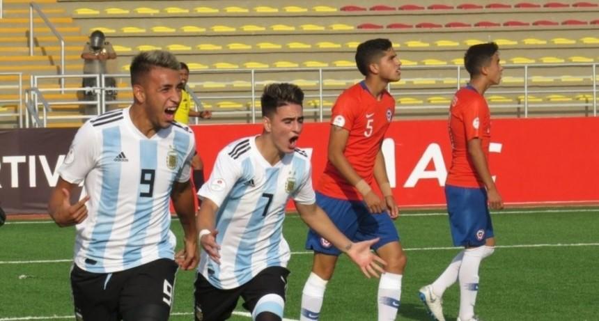 Sub 17: Argentina le ganó a Chile y quedó a un paso del Mundial
