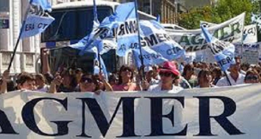 Agmer hará paro el 30 de abril en adhesión a medida de fuerza nacional
