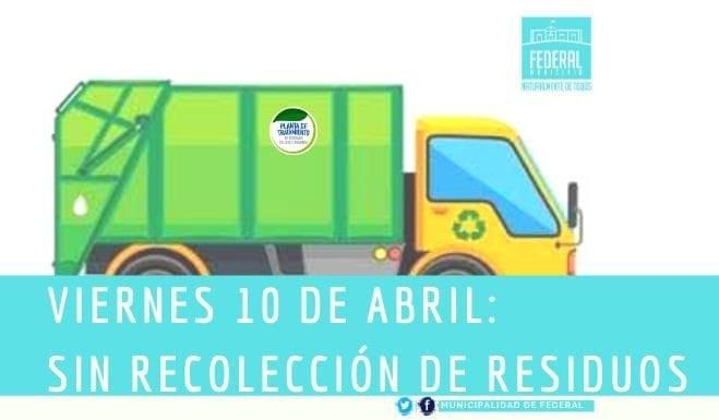 Este viernes no habrá recolección de residuos urbanos