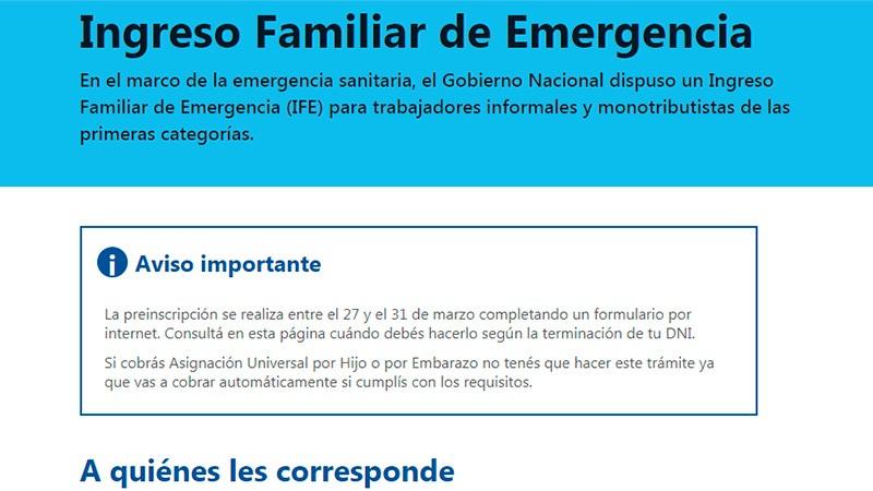 Ingreso Familiar de Emergencia: Evalúan si sigue o implementan otro mecanismo