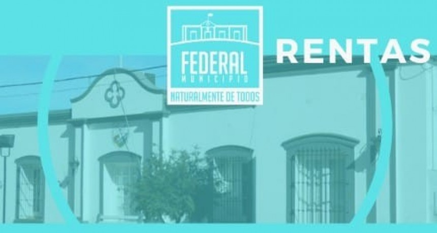 Desde el 3 04 el sector de Rentas municipal recepcionará trámites específicos en el horario de 7 a 13