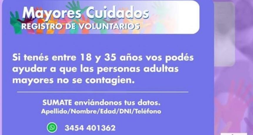 Mayores Cuidados : Registro de Voluntarios