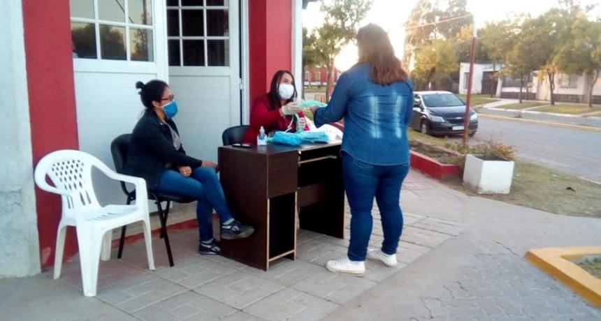 La Municipalidad de Sauce de Luna distribuye tapabocas