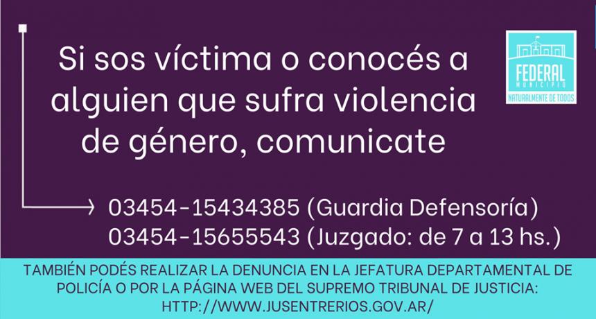 Denunciemos la Violencia de Género