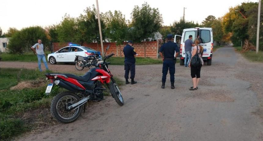 Accidente de tránsito de dos motos en el Barrio Itatí.
