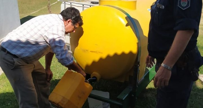 Comenzó la entrega de productos desinfectantes a entidades publicas