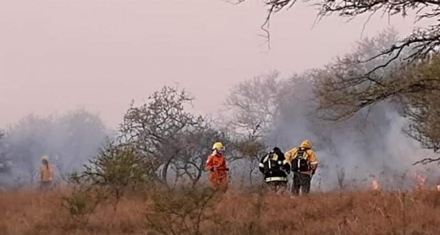 Bomberos de Federal tuvieron trabajo en incendio forestal en La calandria
