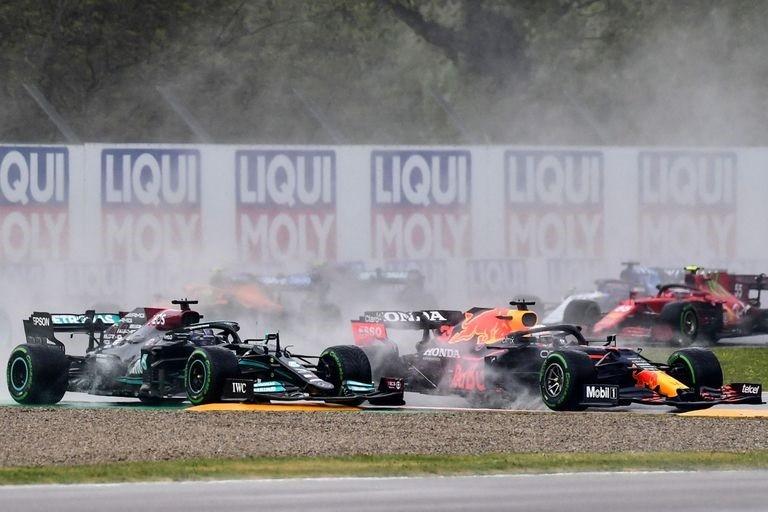 Fórmula 1: Verstappen se llevó un caótico GP de la Emilia Romaña gracias a una largada espectacular