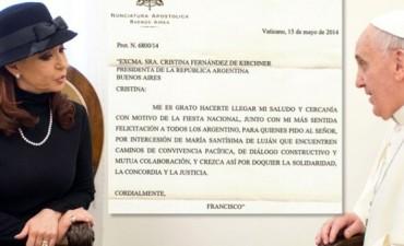 Ahora el Vaticano asegura que la carta del Papa a Cristina es