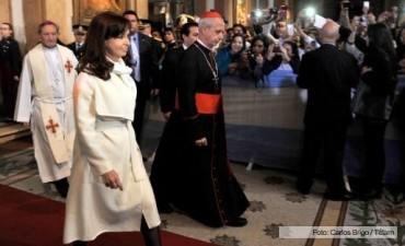 La Presidenta participó del tedeum por el 25 de Mayo en la catedral metropolitana