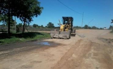 Continúan intensamente los trabajos de reparación de calles