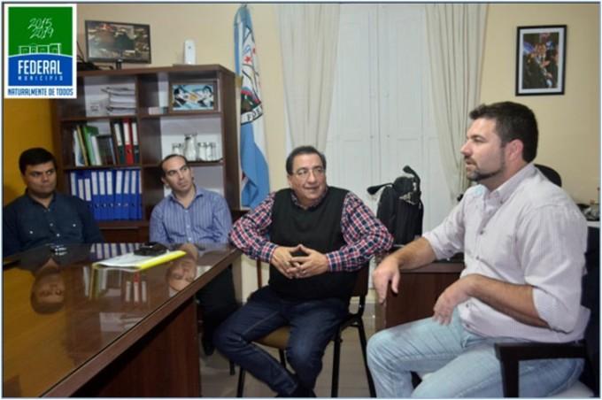 Visita de trabajo del Director de Defensa Civil de la Provincia
