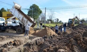 Llegaron esperadas obras para los vecinos de calles Pte Peron y Cepeda