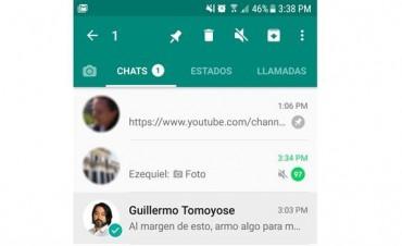 Adiós al desorden: WhatsApp permitirá fijar hasta tres conversaciones