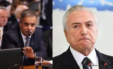 Por nuevo escándalo de coimas, la Corte suspendió al senador Aécio Neves principal aliado de Temer