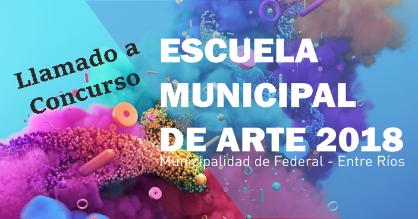 LLAMADO A CONCURSO DOCENTE DE LA ESCUELA MUNICIPAL DE ARTE 2018