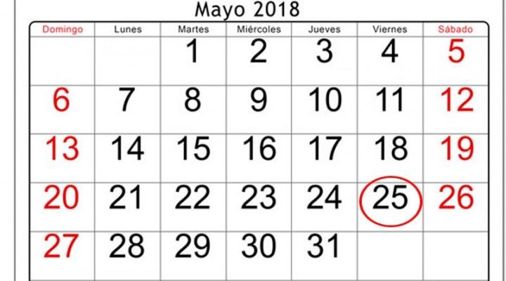 Mayo tendrá otro fin de semana largo, pero también tendrá una particularidad
