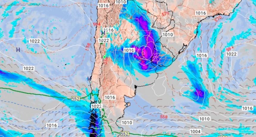 Alertan que una ciclogénesis generaría fuertes tormentas en las próximas horas