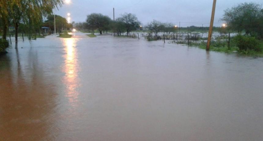 Numerosas familias afectadas por las lluvias en C.Bernardi