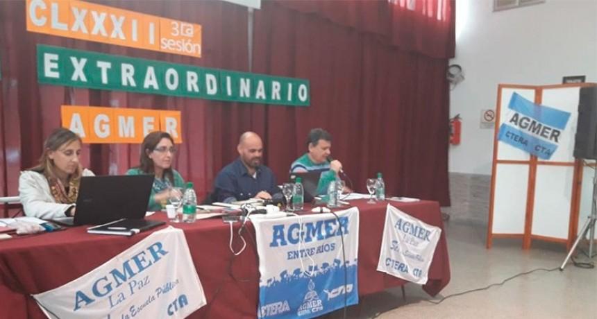AGMER aceptó la propuesta del Gobierno y la declara