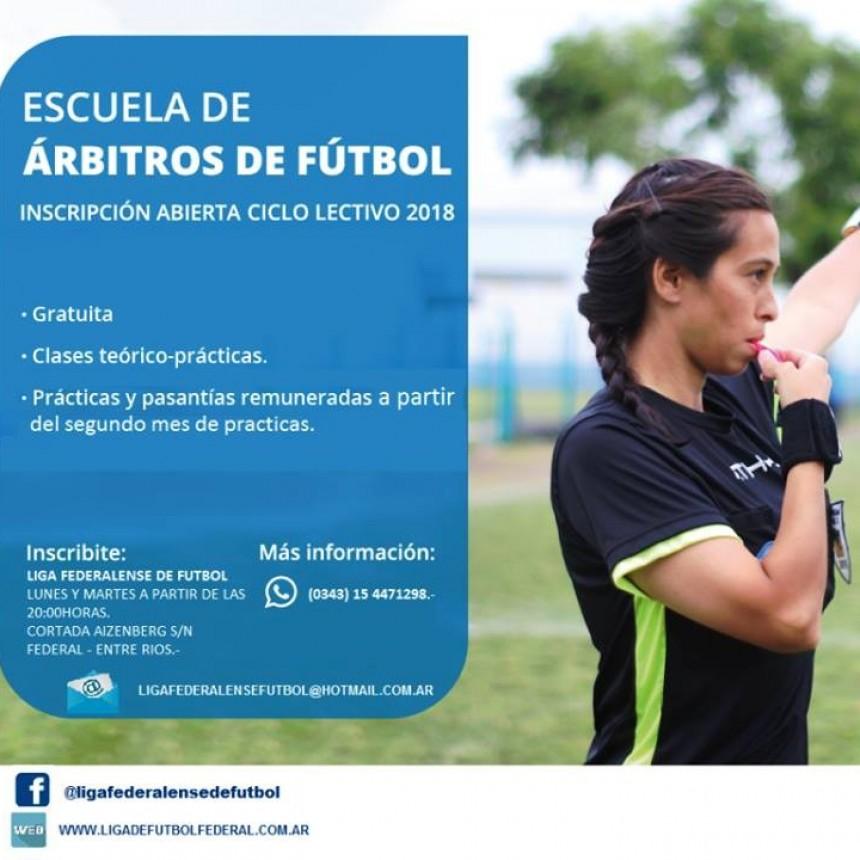 Abierta la inscripción para aspirantes a árbitros de la Liga Federalense de Fútbol