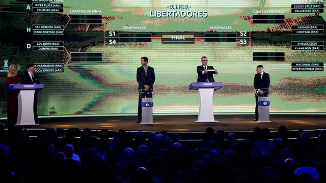 Sortearon los octavos de final de la Libertadores: River va con Cruzeiro y Boca ante Paranaense