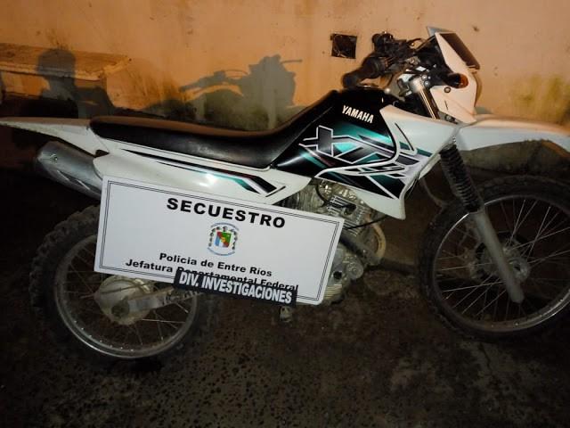 Localizan y secuestran moto que fuera robada