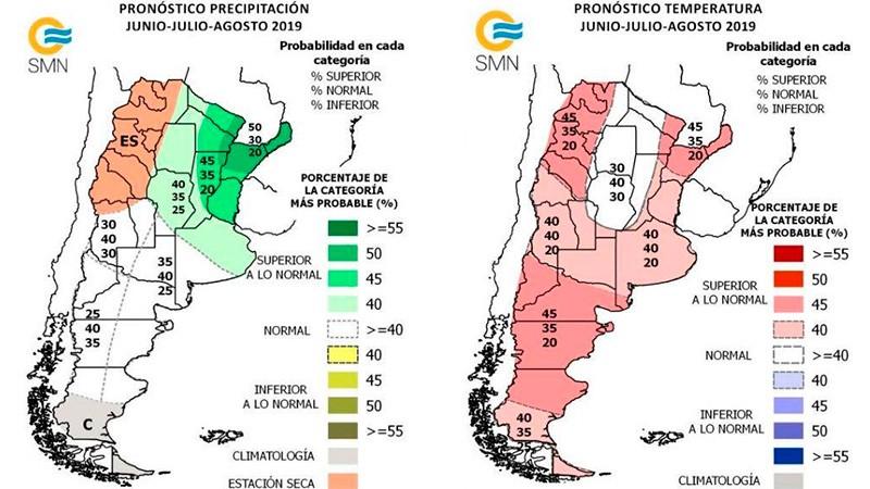 Pronostican un invierno con más lluvias y menos frío que lo normal