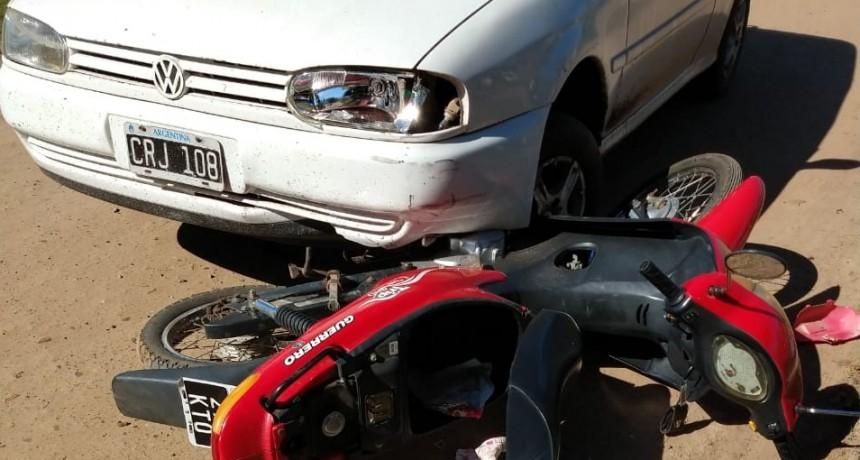 Accidente de transito en calle Artigas casi Cepeda
