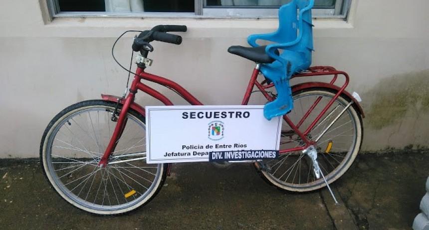 Otro robo de bicicleta que ya fue recuperada