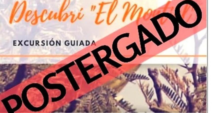EXCURSIÓN POSTERGADA POR CUESTIONES CLIMÁTICAS