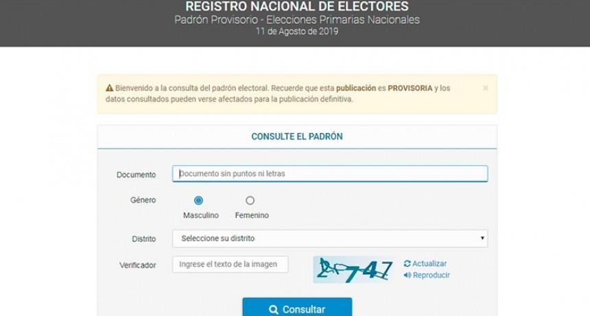 Ya se puede consultar en la web el padrón para las elecciones nacionales