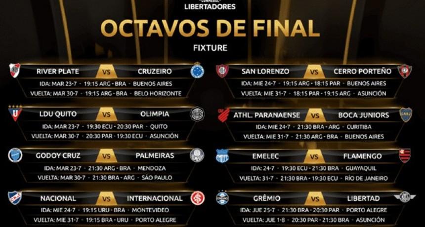 El calendario completo de los Octavos de Final de la Libertadores