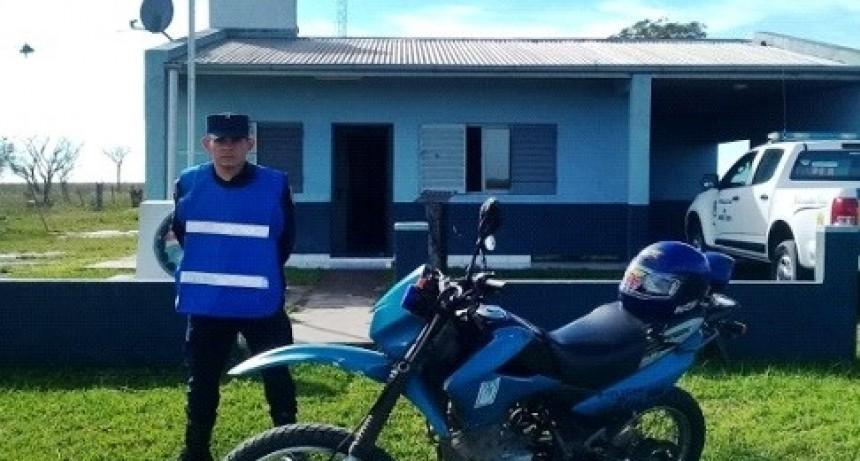 Móvil policial destinado al destacamento de Elias Romero