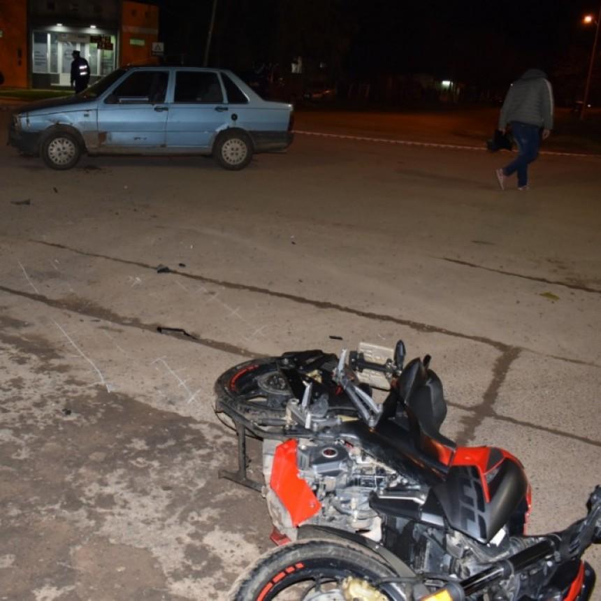 Accidente de transito en Urquiza y Parana