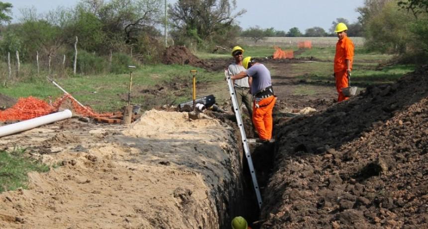 Continúa la ejecución del plan de saneamiento en el norte entrerriano