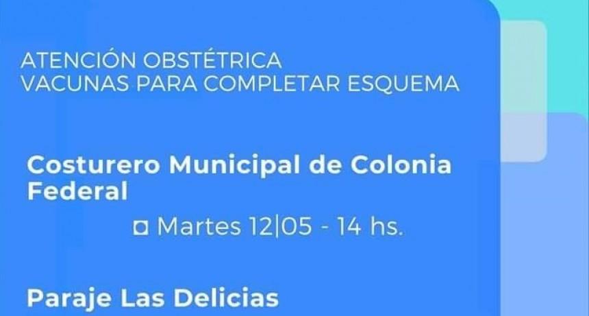 Atención Medica en el Costurero Municipal de Colonia Federal y Paraje Las Delicias