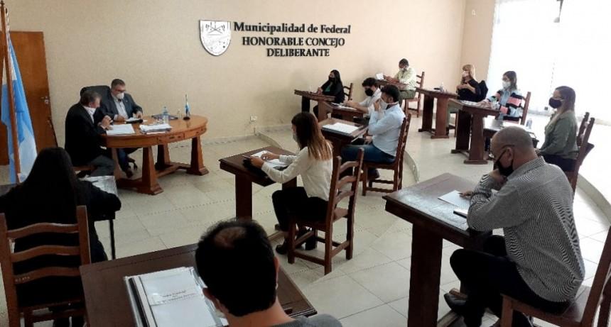 Con el protocolo por el Covid-19, volvió a sesionar el Concejo Deliberante de Federal