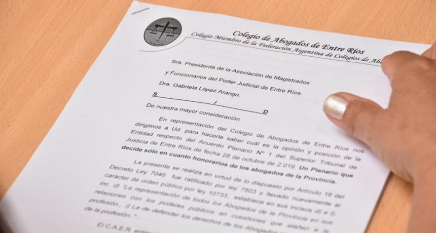 La Seccional Federal del Colegio de Abogados informo reclamos a la Justicia