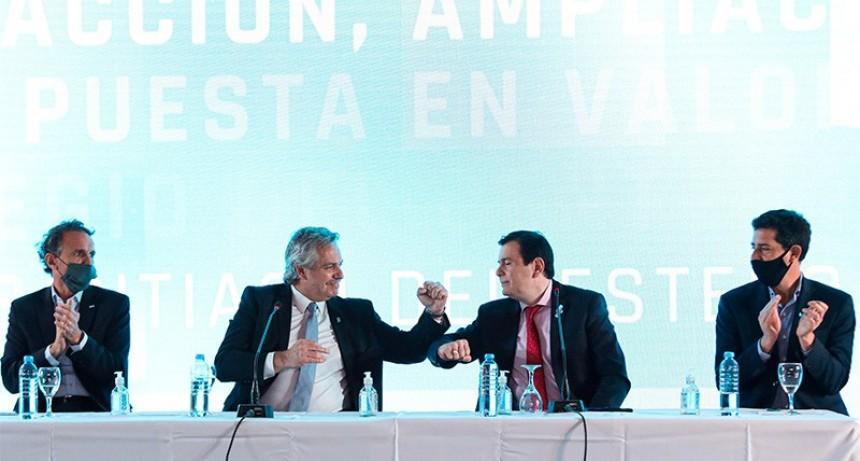 El Presidente visitó Santiago del Estero en su primer recorrido en aislamiento