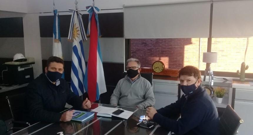 Encuentro de trabajo con el presidente de la Comisión Técnica Mixta de Salto Grande - Delegación Argentina y el Intendente de Federal