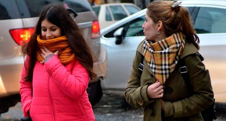El frío llegó para quedarse: Anuncian varios días con bajas temperaturas
