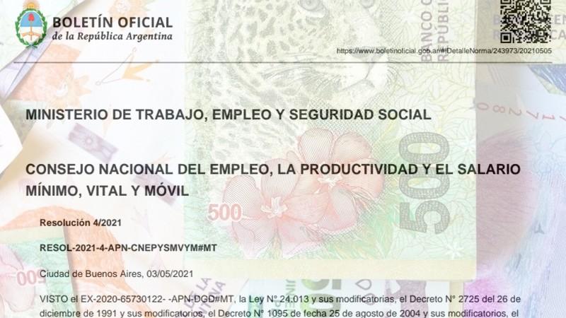 Oficializaron las subas del salario mínimo: el detalle de incrementos en el año