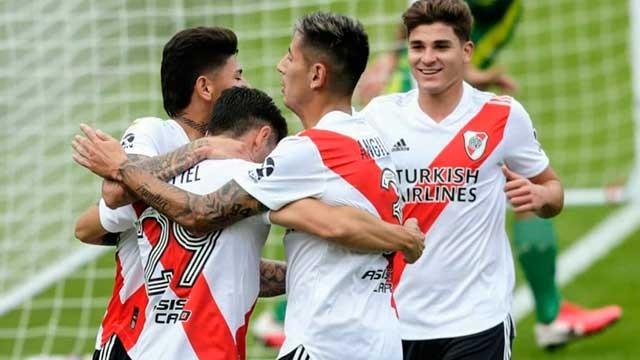 River goleó a Aldosivi por 4 a 1 y se metió en Cuartos de Final