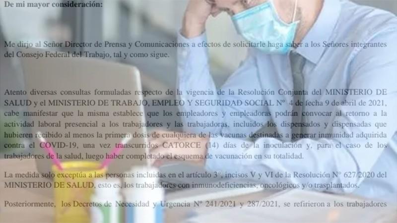 Empleadores podrán exigir retorno a la presencialidad de trabajadores vacunados