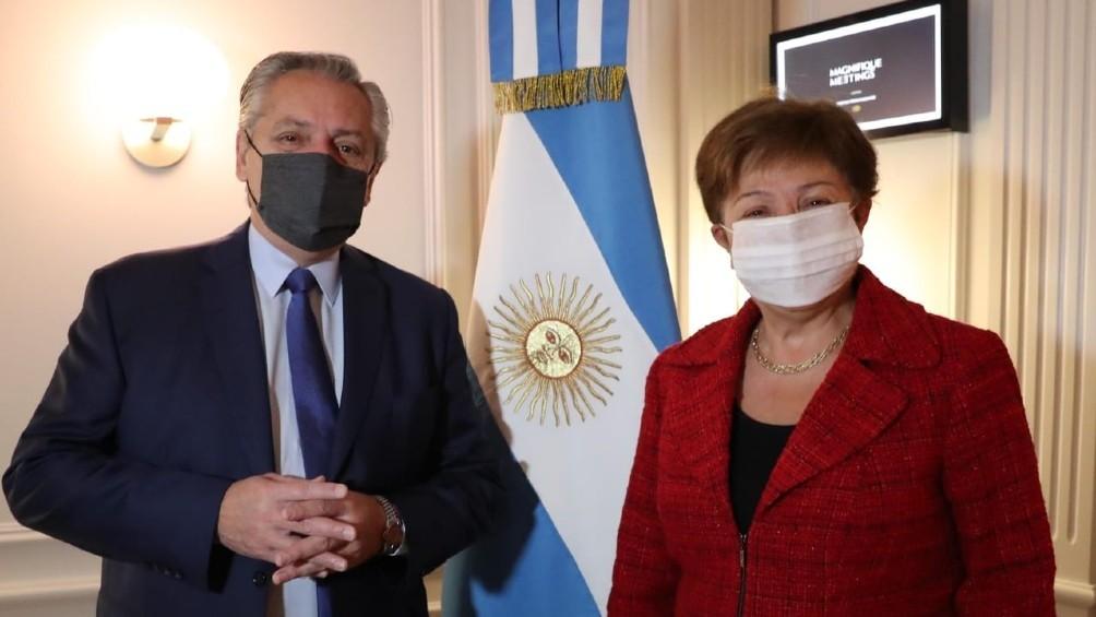 Georgieva, tras el encuentro con Alberto Fernández: