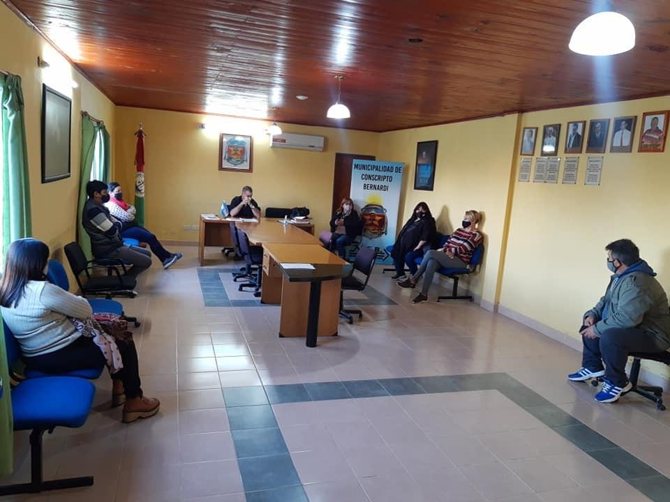Reunión del COES de Conscripto Bernardi