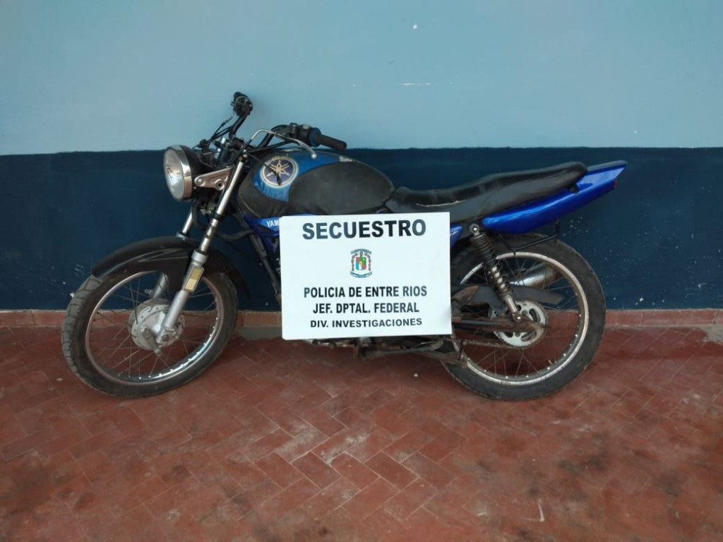 SUSTRACCION Y RECUPERO DE MOTOCICLETA