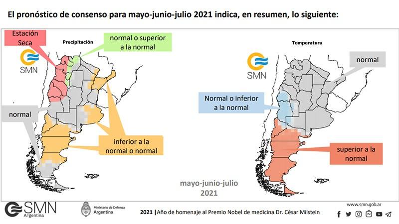 Declaran el fin de La Niña: el pronóstico trimestral de lluvias y temperaturas